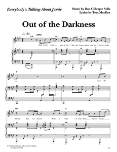 """Everybody's Talking About Jamie - """"Out of the Darkness"""" (Sheet Music)"""