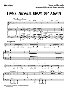 "Heathers The Musical - ""I Will Never Shut Up Again"" (Sheet Music)"