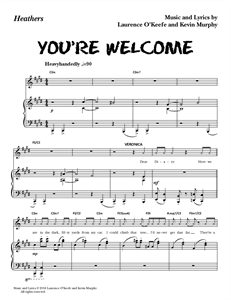 "Heathers The Musical - ""You're Welcome"" (Sheet Music)"