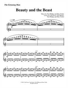 """The Grinning Man - """"Beauty and the Beast"""" (Sheet Music)"""