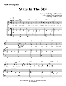 """The Grinning Man - """"Stars In The Sky"""" (Sheet Music)"""
