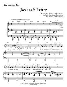 "The Grinning Man - ""Josiana's Letter"" (Sheet Music)"