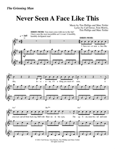 """The Grinning Man - """"Never Seen A Face Like This"""" (Sheet Music)"""